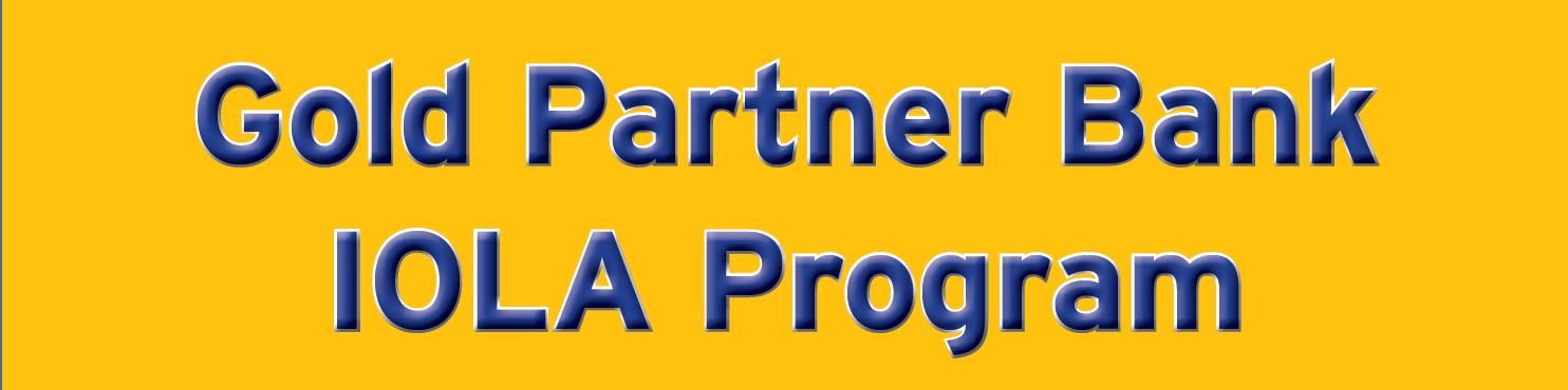 Gold Partner Bank IOLA Program